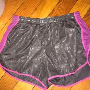 PINK gym shorts Lg